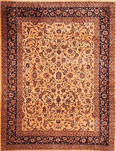 "Nain Yellow Hand Knotted 8'10"" X 11'1""  Area Rug 100-21492"