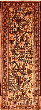 "Persian Rudbar  Wool Yellow Runner Area Rug  (2'4"" x 6'7"") - 253 - 21553"