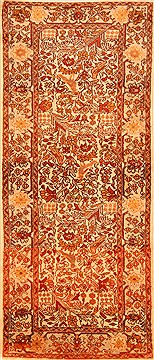 "Rudbar Yellow Runner Hand Knotted 2'9"" X 6'7""  Area Rug 100-21562"