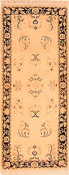 "Sarouk Beige Runner Hand Knotted 2'6"" X 6'3""  Area Rug 100-21578"