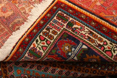 Persian Ghashghaei Red Rectangle 6x9 Ft Wool Carpet 21731