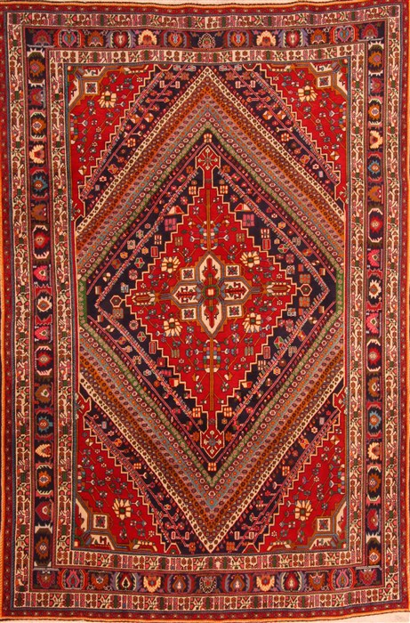 Ghashghaei Red Hand Knotted 6