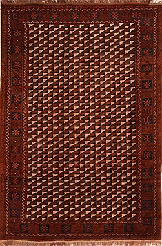 "Kizalayak Brown Hand Knotted 6'6"" X 9'9""  Area Rug 100-21739"