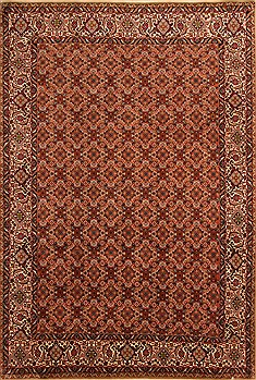 "Bidjar Red Hand Knotted 6'7"" X 9'8""  Area Rug 100-21759"