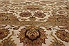 Agra Beige Hand Knotted 711 X 101  Area Rug 250-21767 Thumb 15