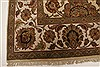 Agra Beige Hand Knotted 711 X 101  Area Rug 250-21767 Thumb 18