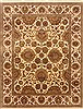 Agra Beige Hand Knotted 711 X 101  Area Rug 250-21767 Thumb 0