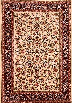 "Mashad Red Hand Knotted 6'6"" X 9'5""  Area Rug 100-21780"