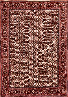 "Persian Bidjar  Wool Red Area Rug  (5'9"" x 8'3"") - 253 - 21791"