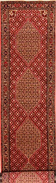 "Sanandaj Red Runner Hand Knotted 2'9"" X 13'3""  Area Rug 100-21798"