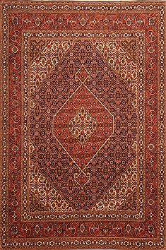 "Tabriz Red Hand Knotted 6'7"" X 9'10""  Area Rug 100-21805"