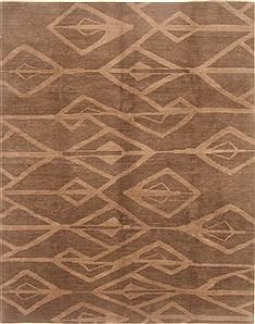 "Nepal Modern  Wool Grey Area Rug  (8'2"" x 10'1"") - 250 - 21851"