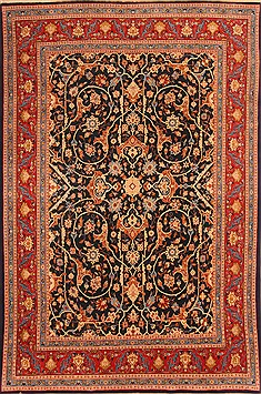 "Tabriz Red Hand Knotted 6'6"" X 9'9""  Area Rug 100-21868"
