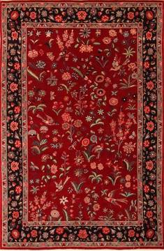 "Kashan Red Hand Knotted 6'1"" X 9'2""  Area Rug 100-21871"