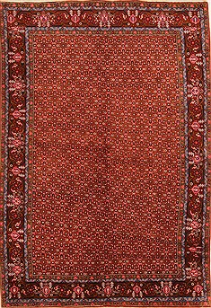 "Ardebil Brown Square Hand Knotted 6'8"" X 8'2""  Area Rug 100-21873"