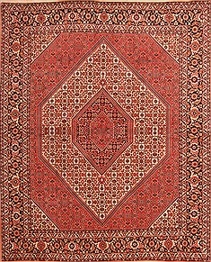 "Bidjar Red Square Hand Knotted 6'7"" X 7'10""  Area Rug 100-21878"