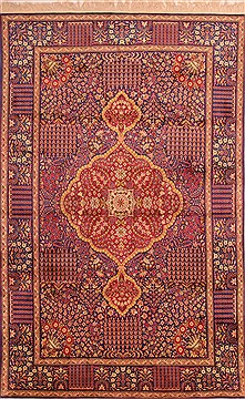 Chinese Kerman Purple Rectangle 6x9 ft Wool Carpet 21881