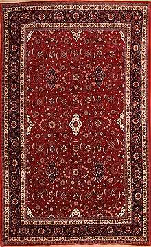 "Bidjar Red Hand Knotted 6'11"" X 11'1""  Area Rug 100-21893"