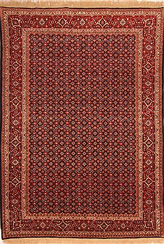 "Bidjar Red Hand Knotted 6'9"" X 9'7""  Area Rug 100-21899"