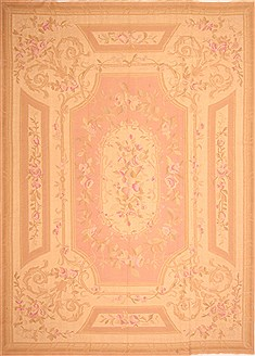 "Aubusson Beige Flat Woven 9'10"" X 13'4""  Area Rug 100-21906"