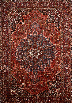 Persian Bakhtiar Red Rectangle 11x16 ft Wool Carpet 21944