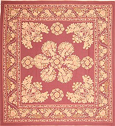 "Aubusson Purple Square Flat Woven 9'10"" X 10'5""  Area Rug 100-21963"