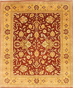 "Ziegler Brown Hand Knotted 8'0"" X 9'6""  Area Rug 100-22032"