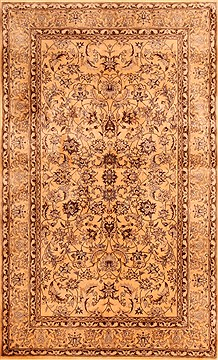 "Nain Beige Hand Knotted 3'0"" X 5'0""  Area Rug 100-22093"