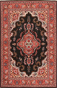 Persian Tabriz Red Rectangle 3x5 ft Wool Carpet 22097