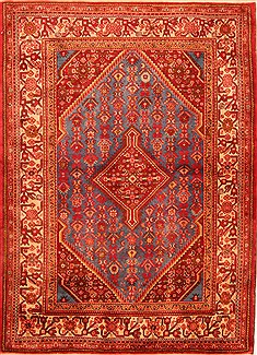 "Jozan Red Hand Knotted 3'8"" X 5'0""  Area Rug 100-22137"