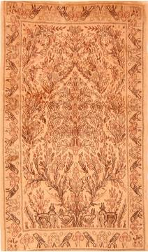 "Kerman Beige Hand Knotted 3'1"" X 5'5""  Area Rug 100-22166"