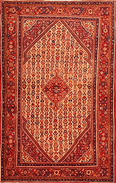 "Jozan Red Hand Knotted 3'5"" X 5'5""  Area Rug 100-22171"