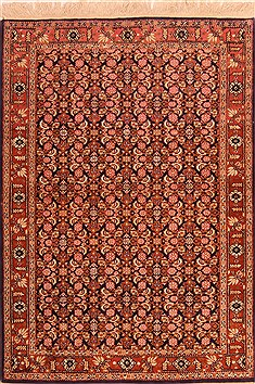 "Ardakan Red Hand Knotted 3'6"" X 5'0""  Area Rug 100-22179"