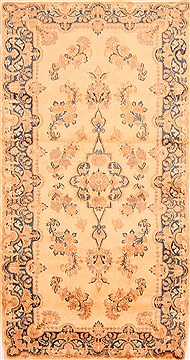 "Kerman Brown Hand Knotted 3'1"" X 6'0""  Area Rug 100-22181"