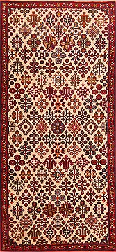 "Maymeh Red Runner Hand Knotted 3'1"" X 6'10""  Area Rug 100-22202"