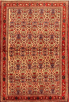 Persian Abadeh Red Rectangle 3x5 ft Wool Carpet 22248
