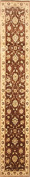 "Zanjan Brown Runner Hand Knotted 2'11"" X 14'0""  Area Rug 250-22260"