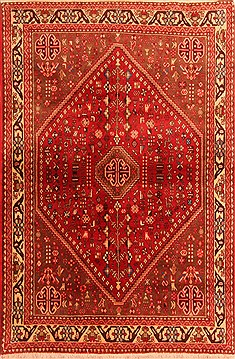 Persian Abadeh Red Rectangle 3x5 ft Wool Carpet 22276