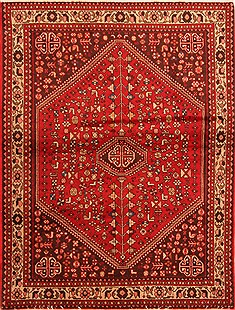 Persian Abadeh Red Rectangle 3x5 ft Wool Carpet 22278