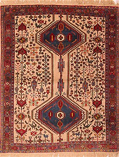 Persian Shahre babak White Rectangle 3x5 ft Wool Carpet 22283