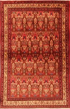 Persian Abadeh Red Rectangle 3x5 ft Wool Carpet 22333