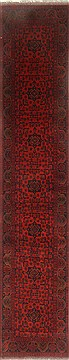 Pakistani Bokhara Red Runner 13 to 15 ft Wool Carpet 22334