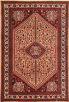 Persian Abadeh Red Rectangle 3x5 ft Wool Carpet 22346