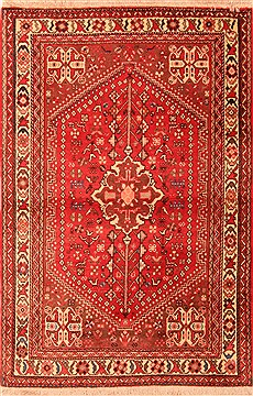Persian Abadeh Red Rectangle 3x5 ft Wool Carpet 22403