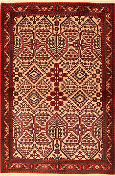 Persian Maymeh Red Rectangle 3x5 ft Wool Carpet 22405