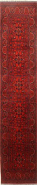 Pakistani Bokhara Red Runner 10 to 12 ft Wool Carpet 22433