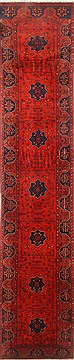 Pakistani Bokhara Red Runner 10 to 12 ft Wool Carpet 22436