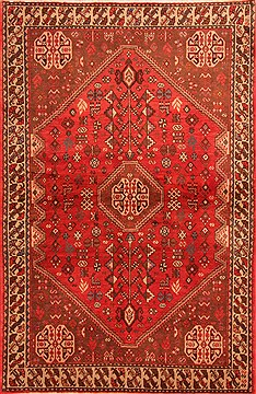 "Abadeh Red Hand Knotted 3'6"" X 5'4""  Area Rug 100-22456"