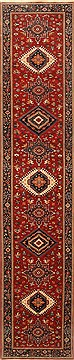 "Karajeh Red Runner Hand Knotted 2'6"" X 12'0""  Area Rug 250-22457"