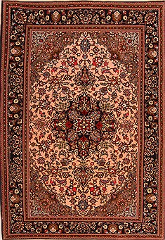 "Qom Red Hand Knotted 4'10"" X 7'1""  Area Rug 100-22481"